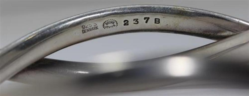 7438c5e6384 A Georg Jensen Sterling Silver Bangle by Astrid Fog, no 237B,