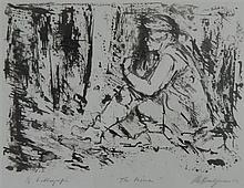 Roy Delgarno (1910-2001) The Miners 1984 Lithograph ed. 6/6