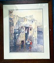 Laura Booth Cumberland Street looking towards the Argyle Cut Watercolour