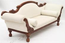 An Antique Style Double Ended Chaise Longue