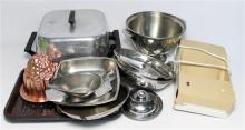A Quantity of Kitchenware Including Serving Dishes, Jelly Mold, Electric Frypan
