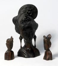 Three Indonesian Wooden Carvings