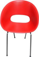 A Pair of Replica Tom Vac Chairs in Red,