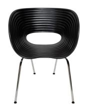 A Pair of Replica Tom Vac Chairs in Black,
