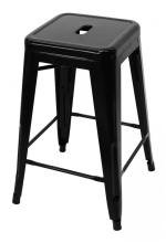 A Replica Xavier Pauchard Tolix Bar Stool in Powdercoated Black,