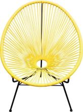 A Pair of Acapulco Chairs in Yellow,