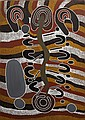 Dora Napantjarri Snake dreaming synthetic polymer paint on linen