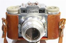 Braun 35mm Paxette Super with Prontor-SVS Lense and Universal Sucher Viewfinder,