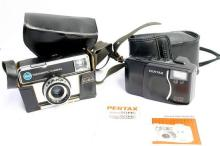 A Kodak 255X 'Instamatic' Camera, and a Pentax EPS10 90MC