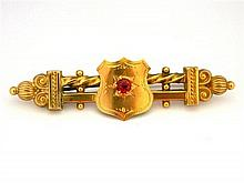 An Australian 9ct Yellow Gold Bar and Shield Brooch