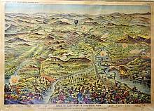 George Washington Bacon (1830-1922) After GW Bacon & Co. Ltd South African Battle Pictures #6 Siege of Ladysmith - A Bird's-Eye View..