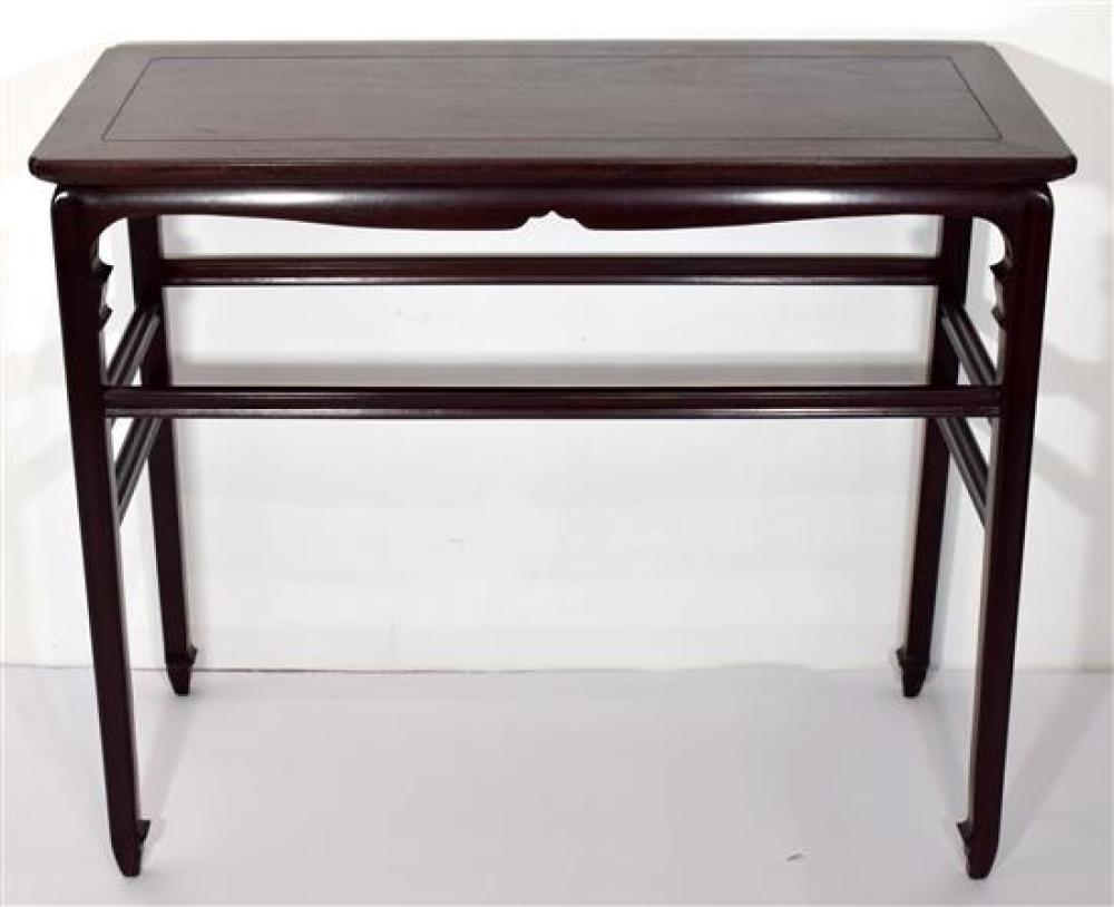 a fine chinese zitan style side table with a floa 8002 c 2b642a68f8