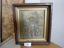 An Icon in wood frame