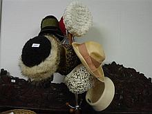 A collection of eleven vintage hats