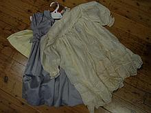 Three babies dresses including cotton Baby Dior, silk christening dress and one other