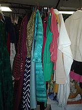 Twenty assorted women's clothes including vintage jackets and dresses