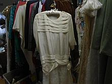 A Silk and lace 1920 dress