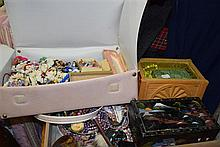 Two boxes of assorted costume and dress jewellery
