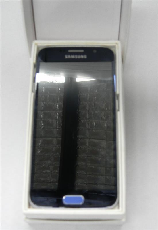 A Samsung Galaxy S6 mobile phone in open box AF