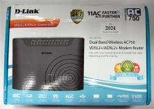 A D-link dual band wireless modem router