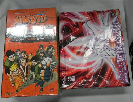 Naruto Volumes 1 - 27 Manga book set plus model creature kit