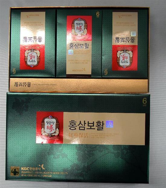 Two Korean Red Ginseng tonic packs