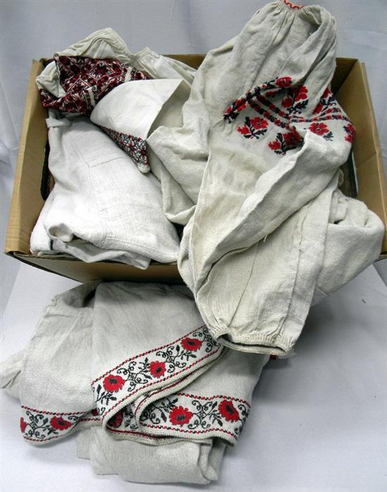 A box of Hungarian inspired clothing