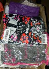 A box of packaged ladieswear