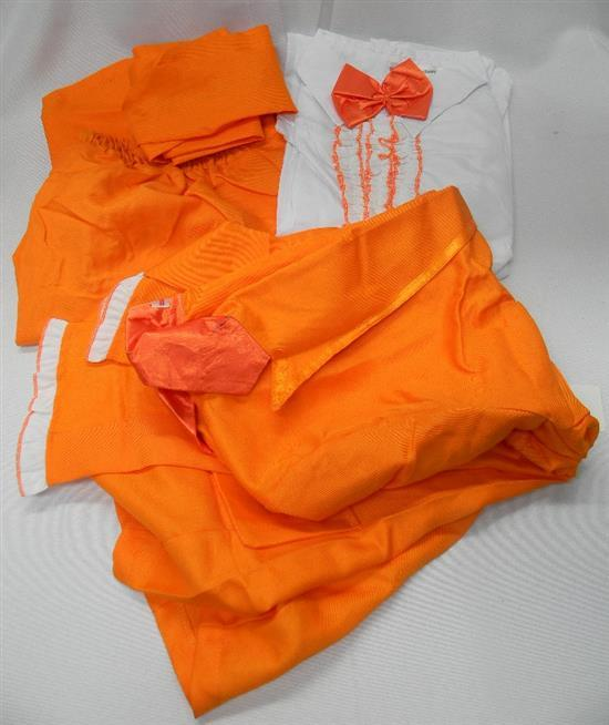 A Costume Collection orange dinner suit size XL