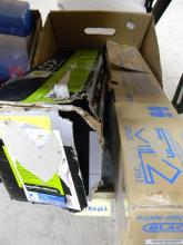 A box of assorted inkjet & toner cartridges/containers