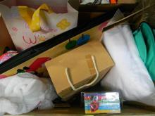 A box of baby accessories