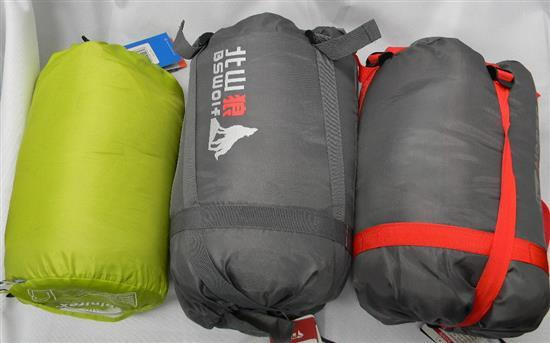 Two BS Wolf sleeping bags plus another