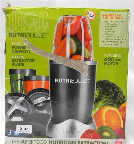 A Nutri-Bullet nutrition extractor in re-sealed box 600w motor