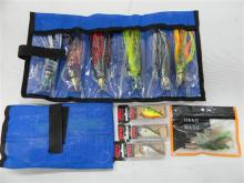 Assorted fishing jigs & lures