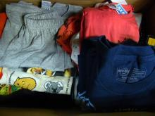 A box of young child's clothing