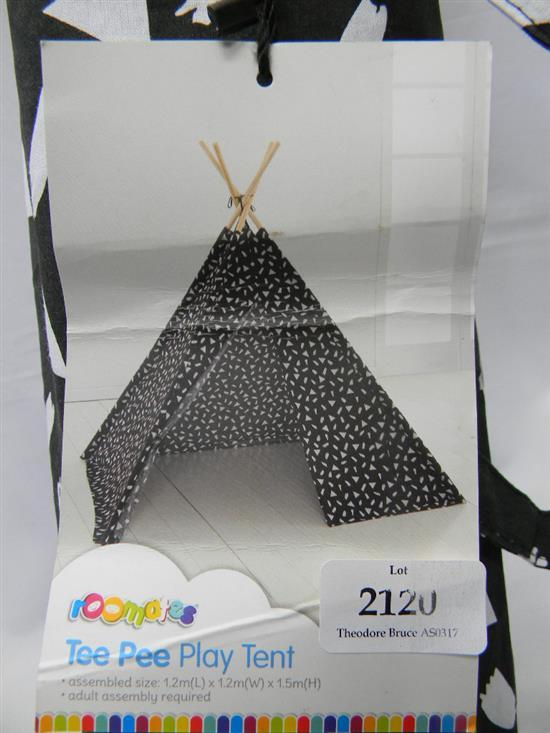 A Teepee play tent