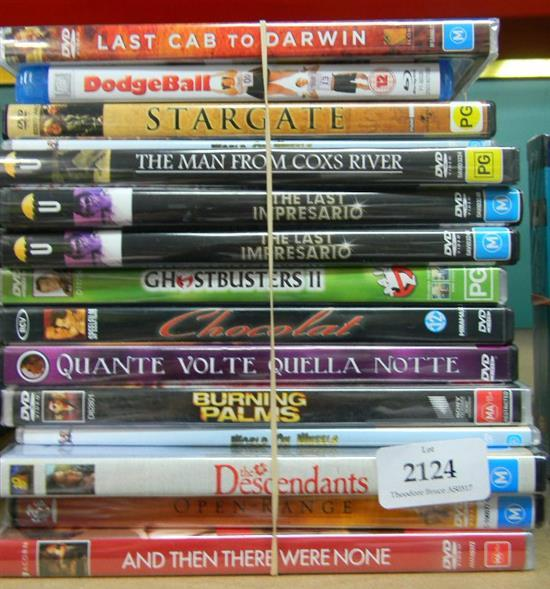 Approx. 15 DVD's incl. Burning Palms, Stargate etc.
