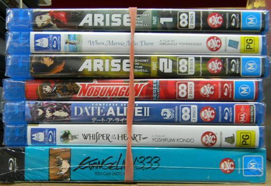 Seven assorted Mange blu-ray discs