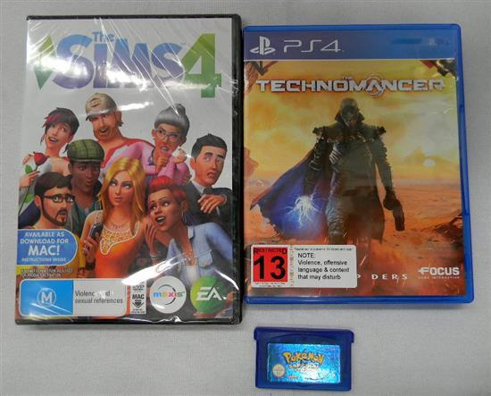 Assorted computer console games (PS4, PC)