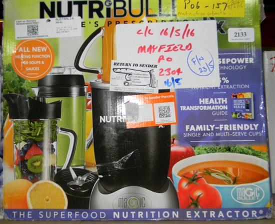 Nutribullet system with heating function in re-sealed box, 2.3 hp