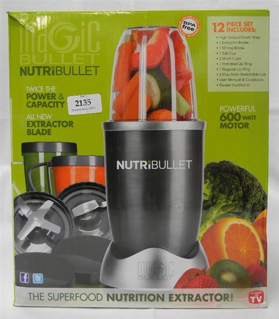 A Nutribullet set in open box 600w motor