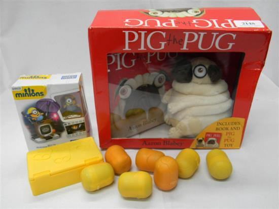 Pig the Pug includes plush pug & book plus other toys