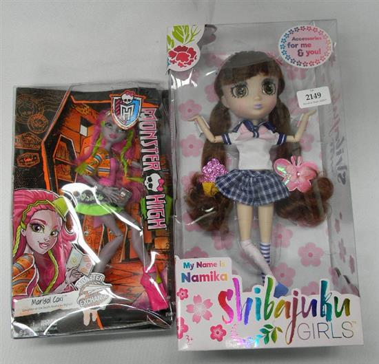 A Namika Shivajuku doll plus Monster High figure