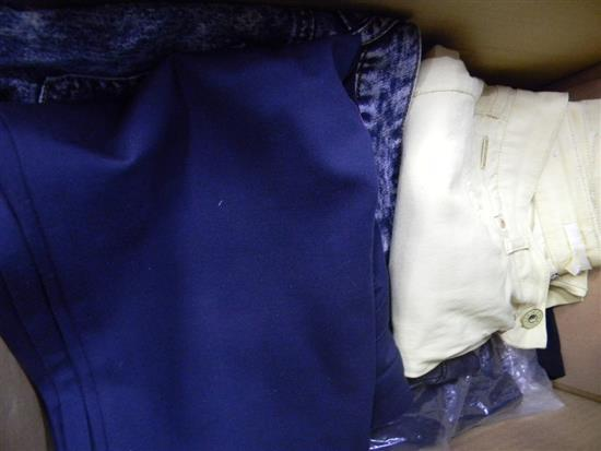A box of ladies pants & shorts
