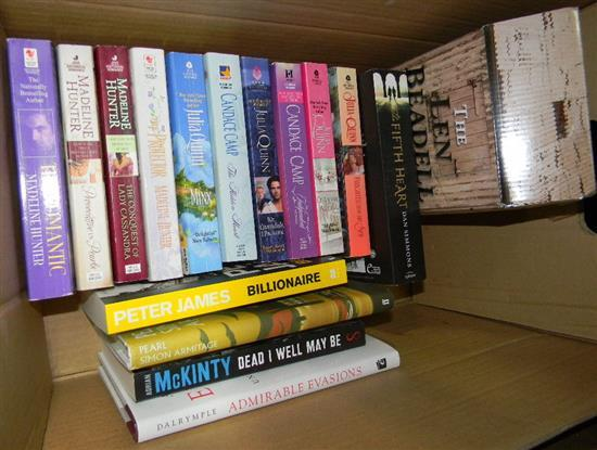A box of assorted novels