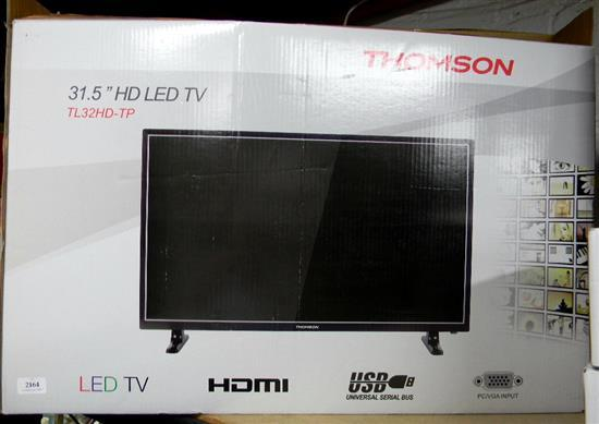 A Thomson 3.5 HD LED TV in open box, as found
