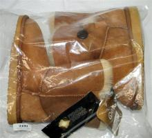 A pair of sheepskin boots size 34 marked UGG