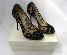 A Pair of ladies shoes (used) marked Jimmy Choo size 38