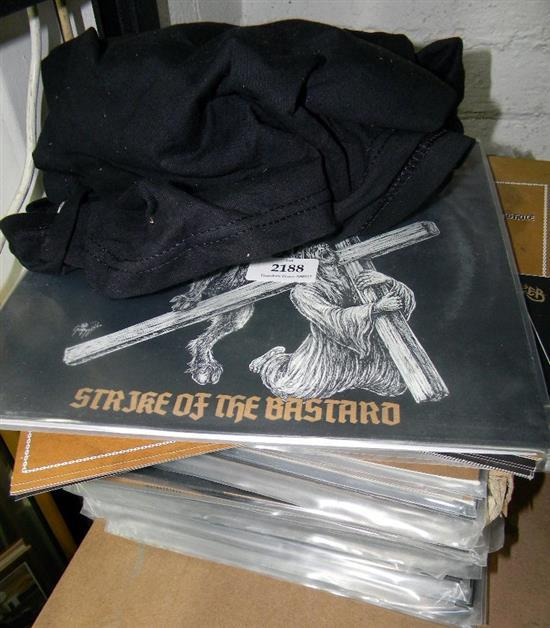 The Whip Striker kit incl. T-shirts, stickers, flyers & record albums