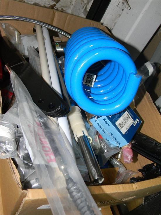 A box of assorted industrial sundries